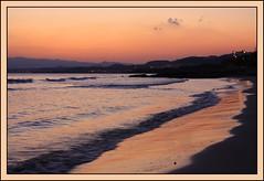 Golden reflections. La Azoha (Cartagena) (Lifel-Mod) Tags: sunset sea wallpaper espaa orange sun sol beach canon eos golden mar spain wave playa best murcia puesta naranja cartagena ola dorado azoha lifel 450d blinkagain