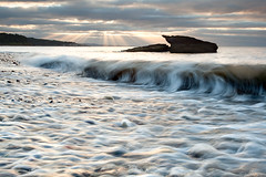 Pan Ha (Chee Seong) Tags: uk light sun beach rock canon coast scotland ray fife details wave pebbles worldphotographyday canon1740mm panha 5dm2