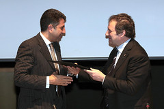 UfMS Secretary General Ahmad Masa'deh and the Mayor of Barcelona Jordi Hereu at the Mediterranean Local and Regional Authorities Forum in Barcelona (ahmadmasadeh) Tags: ahmad masadeh