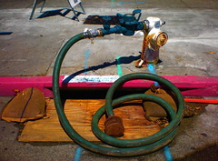 Purpose (ron_toad) Tags: urban water hydrant berkeley downtown artifacts streetview sculpturetrouvee mysteriouspurpose