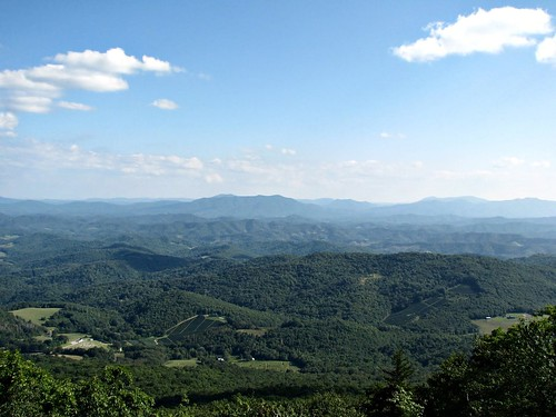 Blue Ridge Mountains as seen from Mt. Rogers in Virginia
