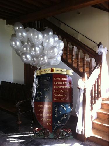 Heliumballonnen Zilver en Wit Kasteel van Rhoon