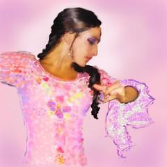 Flamenco of Grace (Pat McDonald) Tags: ballet espaa argentina beauty dance sevilla spain ballerina mediterranean emotion danse grace seville luna granada feeling bale gibraltar guitarist flamenco graciela dans ballo corelpainter intensity elegance albaicin bailar gitana bailaora castanet andalus bailaoras dwet