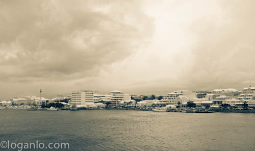 Cloudy day in Bermuda