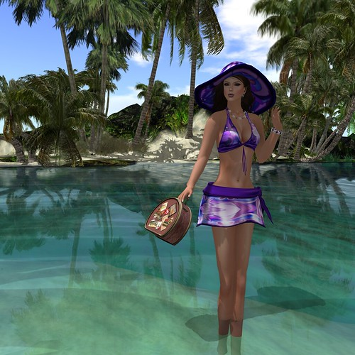 :: PM :: Guaran Bikini in Purple & Voyager Bag in Pink