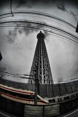 SKYTREE Tokyo (nakagane masayuki   ) Tags: leica tower tokyo nikon with m fisheye m42 russian 16mm zenitar hdr leitz skytree d700