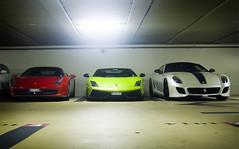Monaco Combo (Thomas Saunders) Tags: nikon garage ferrari monaco gto supercars 599 468 d40 worldcars lp570