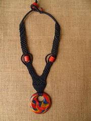 Girocollo blu con anello Fimo (patty macram) Tags: collier macrame collane gioielli immagini girocollo macram macramgioielli macrambijoux macramlavori macramcollier macramgirocolli macramimmagini