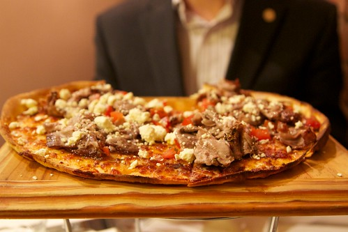 Roast lamb pizza