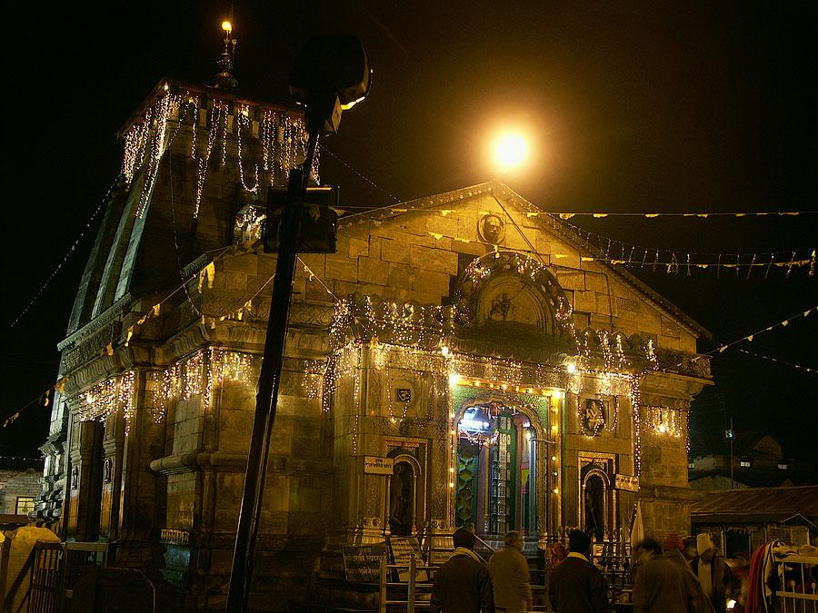 Ночной Озеро Ганди Саровар (Чорабари). Кедарнатх (храм Кедар) © Kartzon Dream - авторские путешествия, авторские туры в Индию, тревел фото, тревел видео, фототуры