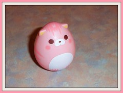Nyan, Nyan (Screech?) (Ayla160 >^..^<) Tags: pink cute cat toy japanese kitten doll little shaped small egg peach kitty tiny kawaii meow awake tumble openeyes cubeworks swingsmeows