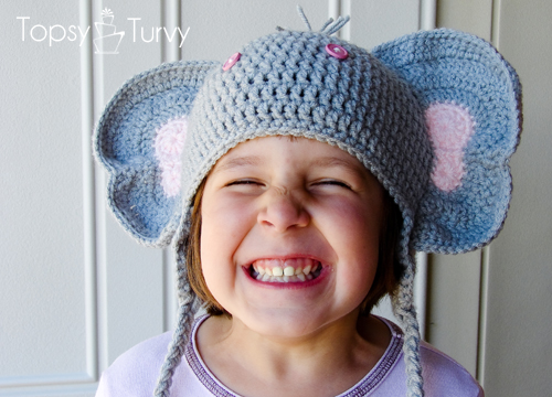 Crochet children's Elephant hat- I'm Topsy Turvy