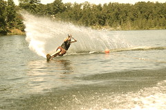 Andy (Erica Aarons) Tags: summer lake ski slalom waterski slalomcourse