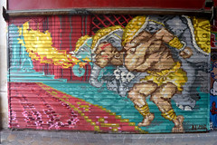 by Keumar (lepublicnme) Tags: streetart paris france graffiti august shutter streetfighter dhalsim 2011 keumar