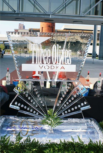 Three Olives Vodka double Luge  ice sculpture