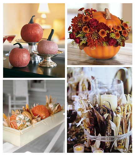 your centerpieces for a fall wedding Pretty pumpkins beautiful squash