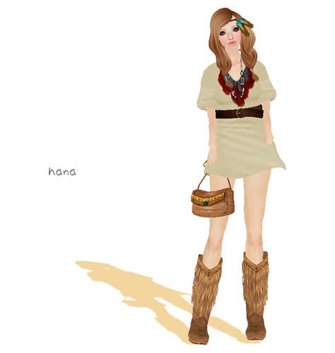 ::C'est la vie !:: feather dress(beige)LB