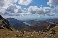 View from Summit of Slieve Bearnagh (bazmcq) Tags: county uk ireland mountain mountains canon eos ben down reservoir northernireland wonders mourne lightshade ulster doan slieve 500d mournes silentvalley crom icapture bearnagh binnian flickraward slievenaglogh northernirelandphotography barrymcqueen yahoo:yourpictures=skyline yahoo:yourpictures=bestofbritish yahoo:yourpictures=landscape