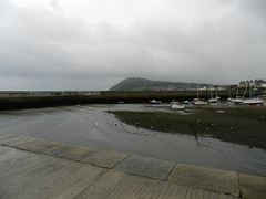 A rainy Monday evening in Bray harbour