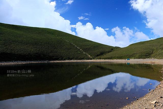 湖片雲影 營影