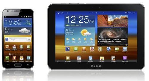 Samsung Galaxy S II and Galaxy Tab 8.9