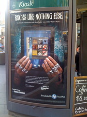 Ads for the fated HP TouchPad in Sydney