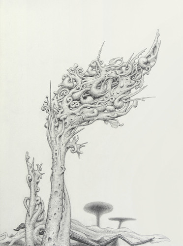 (sarcoptiform) Tags: fiction plant art leaves monster rock illustration pencil comics painting paper underground weird ross artwork drawing thing space web cluster alien science tendril growth doodle comix scifi beast bud spine alexander thorns trippy scape creature thorn shrooms squiggle progressive stoner mutation webbed prog alexanderross mushroomfantasy