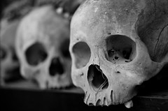 Skulls of the Killing Fields (Brass.Bonanza) Tags: never rouge cambodia khmer killing human memory bones murder fields ek genocide phnom forget penh khmerrouge choeung ភ្នំពេញ