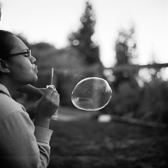 Bubbler (DowntownRickyBrown) Tags: 120 mediumformat bokeh bubbles selfdeveloped fujineopanacros rolleiflex28