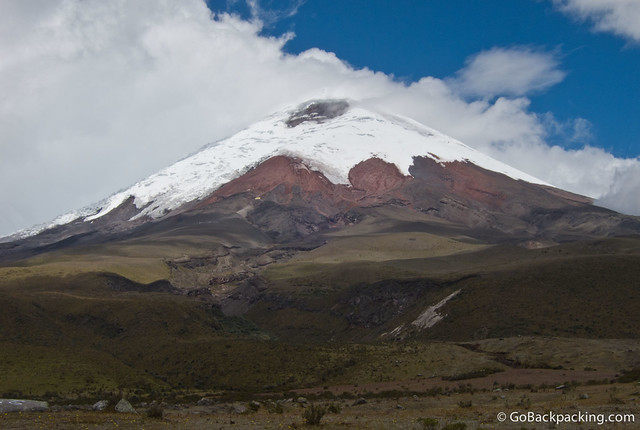 Cotopaxi Volcano (5,897 meter) is Ecuador's 2nd tallest, and one of the world's tallest active volcanoes.