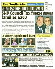 SNP Scottish Election Newspaper, 2011 (Scottish Political Archive) Tags: party scotland election edinburgh scottish msp southern national publicity campaign snp 2011 eadie