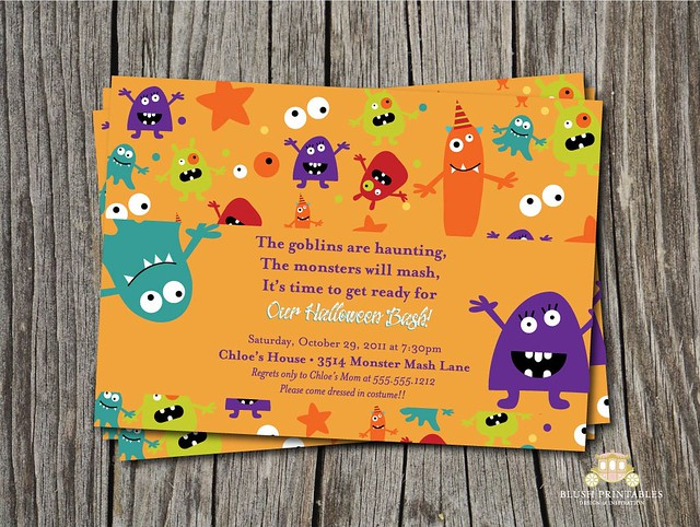 Monster Mash - 5x7 Printable DIY invitation