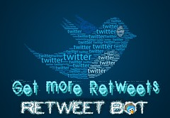 Retweet Bot Blue Square