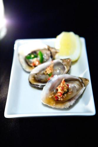 Kushi Oysters with Jalapeno Ponzu