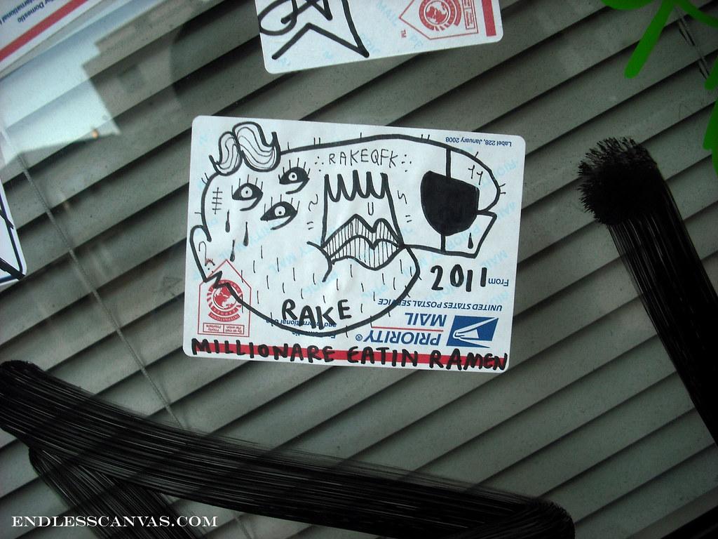 RAKE sticker - Oakland, Ca