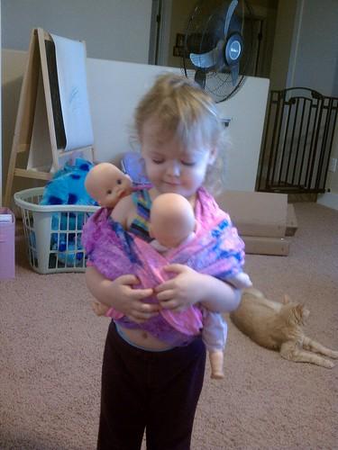 Twin babywearing
