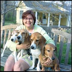 img1050 (joelluber) Tags: portrait 120 tlr film beagle dogs mediumformat square heather dachshund 400iso twinlensreflex lawrenceks kodakportra400 minoltaautocordmxs