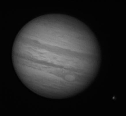 Jupiter and Europa 2011-09-02_03-41-03 IR by Mick Hyde
