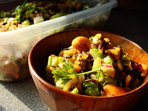 Cashew Cranberries Wild Rice Spelt Salad
