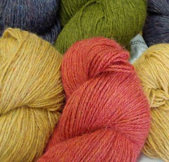 Yummy heathery dyed alpaca