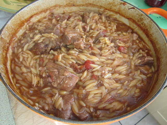 Greek lamb and orzo