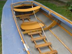 Sitz und Bodenleiter im Faltboot/Faltkajak (Pouch RZ85)