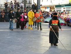 Participantes del gallo en la Plaza Cardenal Orbe