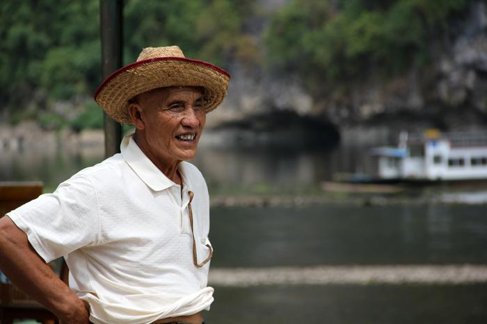 Bamboo Raft Salesman, China