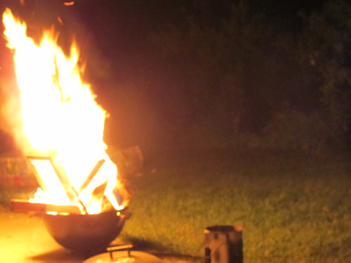 late summer bonfire