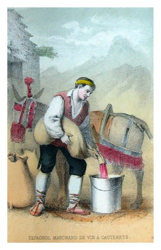 007-Español vendedor de vino en Cauterets-Costumes pyrénéens-1860