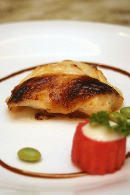 Cod Fish Baked with Miso and Sauteed Edamame ($14/pax)