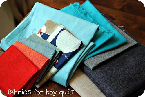 fabrics for boy quilt