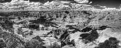 Grand (Shawn O'Connell Photography) Tags: arizona blackandwhite bw clouds ir nikon grandcanyon panoramic infrared hdr southrim shawnoconnellphotography