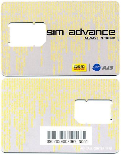 AIS Advance   SIM card in Thailand